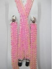 Light Pink Sequin Suspenders