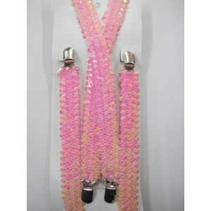 Light Pink Sequin Suspenders