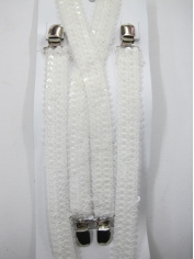 White Sequin Suspenders