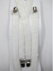White Sequin Suspenders