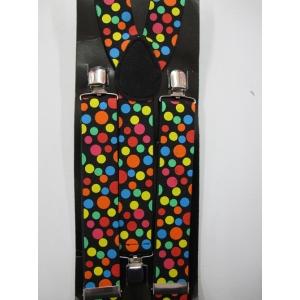 Polka Dot Clown Suspenders