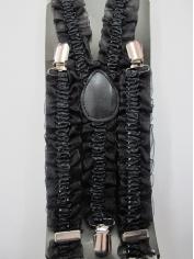 Black Lace Suspenders