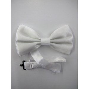 White Bow Tie - Costume Accessories
