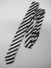 White Stripe Tie - Costume Accessories
