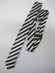 White Stripe Tie - Costume Accessories