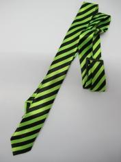 Green Stripe Tie - Costume Accessories