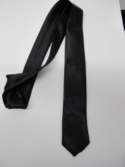 Black Skinning tie - Costume Accessories