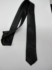 Black Skinning tie - Costume Accessories