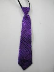 Purple Sequin Tie