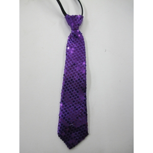 Purple Sequin Tie
