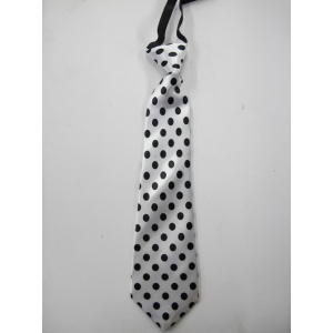 White Tie With Black Dots