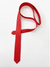 Red Skinning tie - Costume Accessories