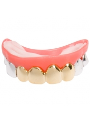Silver Gold Look Teeth Grills