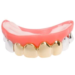 Silver Gold Look Teeth Grills