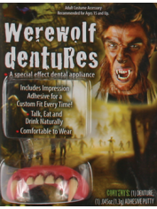 Deluxe Werewolf Teeth - Halloween Fake Teeth