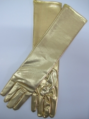 Metallic Gold Gloves