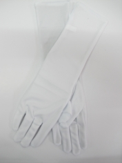 Elbow Length White Gloves - Costume Accessories