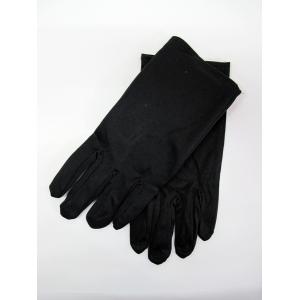 Short Black Gloves