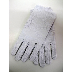 Short White Lace Gloves - Costume Accessories