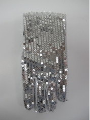 Short Silver Sequin Glove
