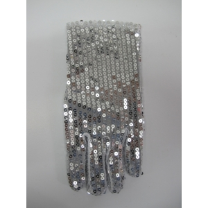 Short Silver Sequin Glove