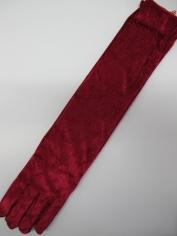 Red Velvet Gloves - Over the Elbow