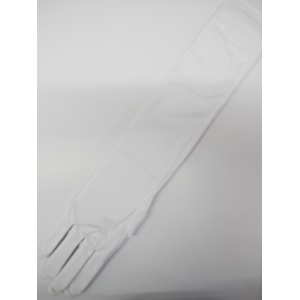 Long White Gloves (21inch) - Costume Accessories