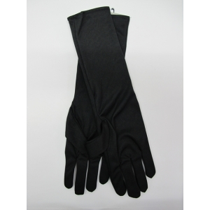 Elbow Length Black Gloves - Costume Accessories