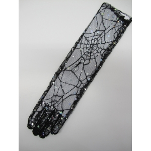 Black Spider Web Gloves
