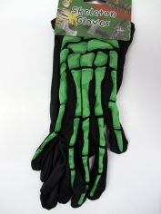 Green Skeleton Wrist Bone Gloves