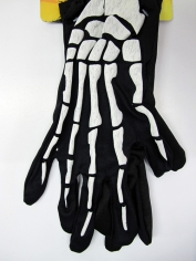 White Skeleton Wrist Bone Gloves