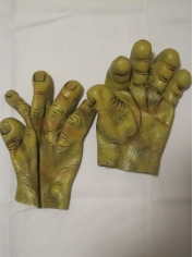 Green Monster Gloves - Halloween Costume Accessories