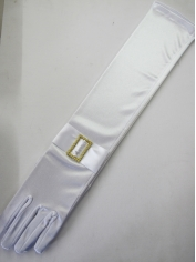 Deluxe Long White Gloves