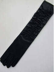 20s Long Black Gloves
