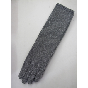 Long Silver Glitter Gloves