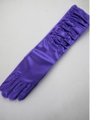 Long Purple Gloves