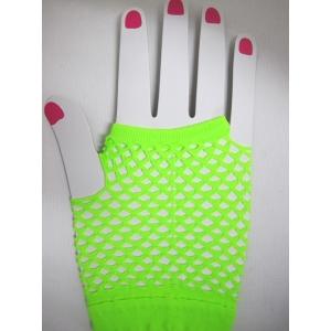 Neon Green Short Mesh Gloves