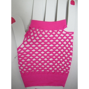 Neon Pink Short Mesh Gloves