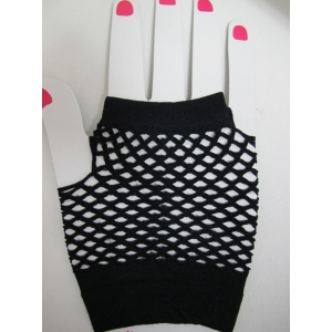 Black Short Mesh Gloves