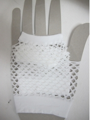 White Short Mesh Gloves