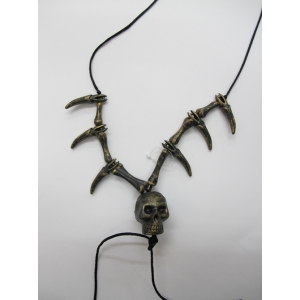 Gold Skull Teeth Necklace - Plastic Toys
