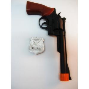 Black Police Gun - Plastic Toy
