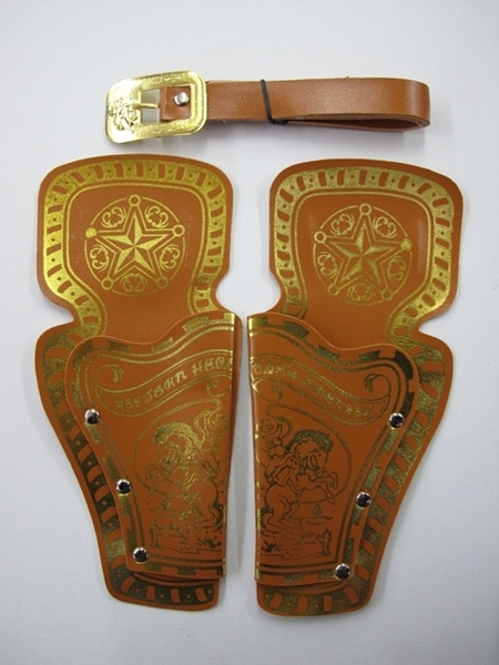 Cowboy Double Gun Holster Brown Plastic Toys