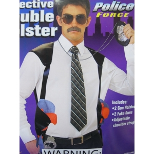 Police Double Gun Holster with Guns - Plastic Toys