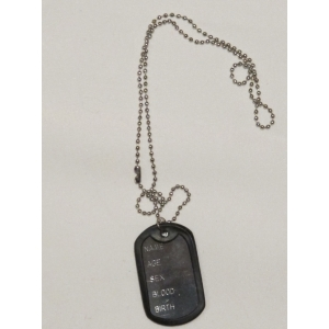 Army Dog Tag - Police and Army Costume