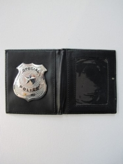 Police Badge in Wallet - Plastic Toys