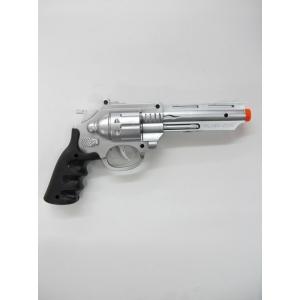 Silver Police Gun - Plastic Toys