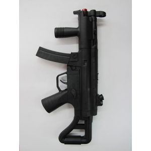 Black Police Force Gun - Plastic Toys