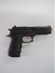Black Army Short Gun - Plastic Toy