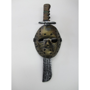 Machete with Mask - Halloween Costume Accessories